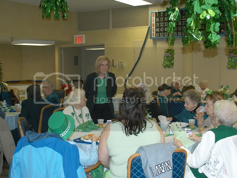 Hon. Beth N. Smayda talking to some of the guests