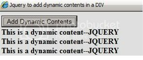 Jquery Dynamic Content