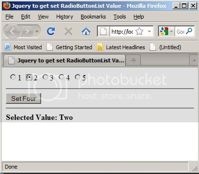 RadioButtonList Jquery