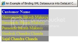 Bind XML data into DataList controlo